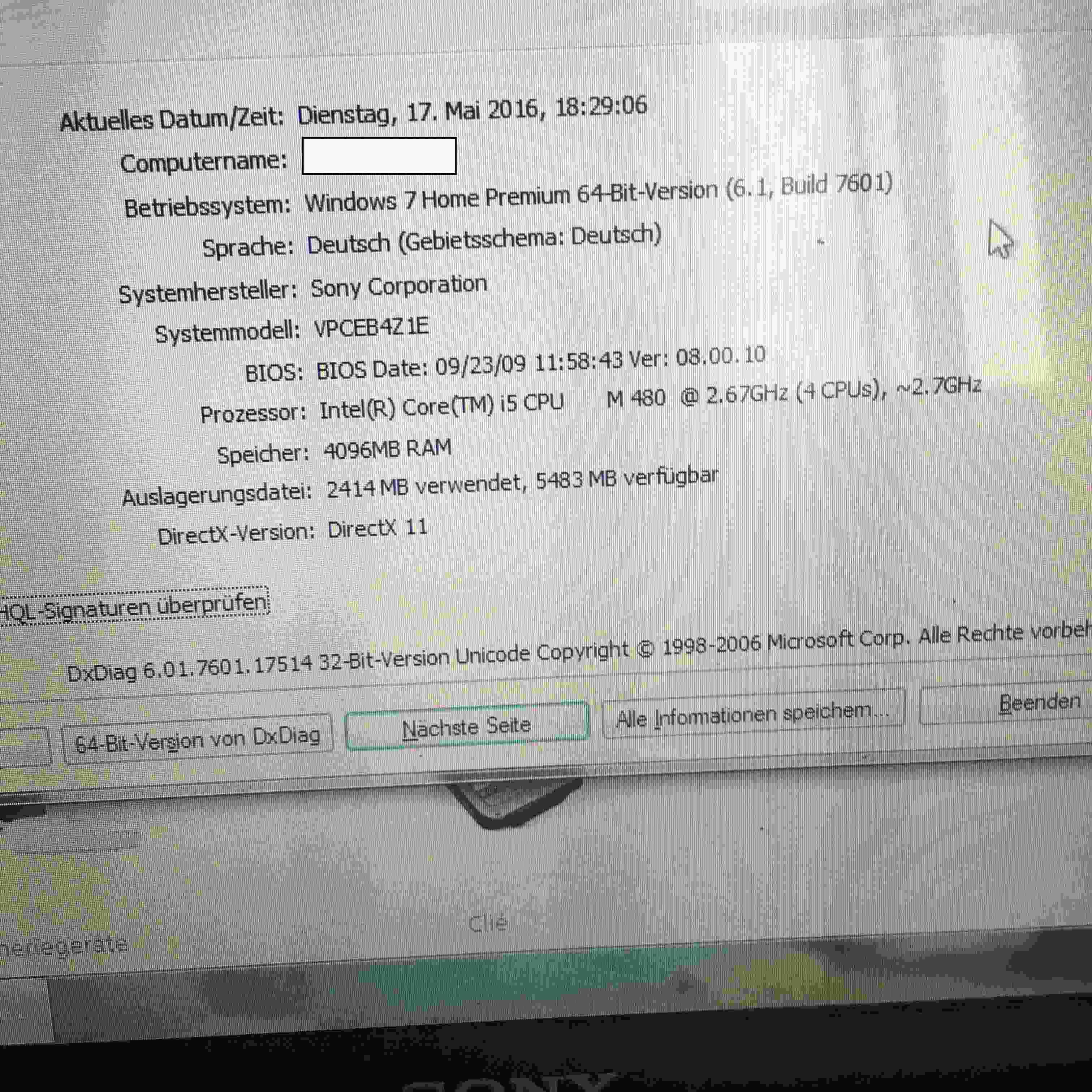 Sony VAIO Notebook VPCEB4Z1E - BIOS Update? | raid rush